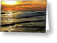 Sunset Over The Gulf Greeting Card