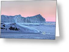 sunset over the Icefjord - Greenland Greeting Card