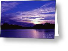 Sunset Over The Intercoastal Greeting Card