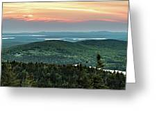 Sunset Over The Lakes Greeting Card