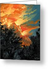 Sunset Over The Little Wekiva Greeting Card