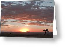 Sunset Over The Mara Greeting Card