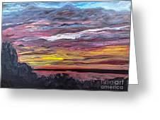 Sunset Over The Mississippi Greeting Card
