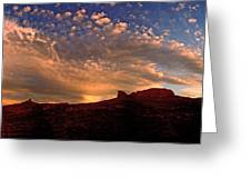Sunset Over The Moab Rim 2 Greeting Card
