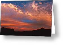 Sunset Over The Moab Rim Greeting Card