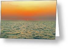 Sunset Over The Ocean In Galapagos Greeting Card