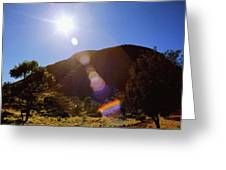 Sunset Over The Olgas Greeting Card