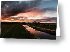 Sunset Over The River Wyre Greeting Card