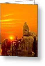 Bismarck Rock At Sunset Greeting Card
