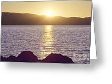 Sunset Over The Straits Greeting Card by Cindy Garber Iverson