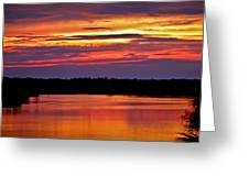 Sunset Over The Tomoka Greeting Card