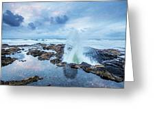 Sunset Over Thor's Well Greeting Card