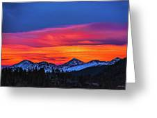 Sunset Over Torreys And Grays Peaks Greeting Card