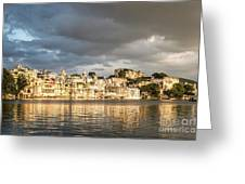 Sunset Over Udaipur Greeting Card