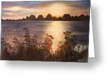 Sunset Over Westham Island Greeting Card