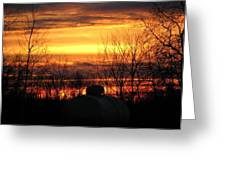 Sunset Over Wisconsin Greeting Card