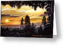 Sunset Over Wrightwood Greeting Card