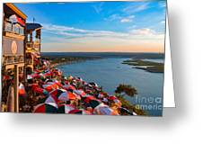 Sunset Overlook On Lake Travis Greeting Card
