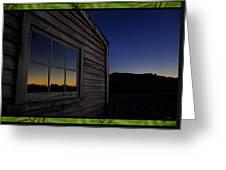 Sunset Pane Greeting Card