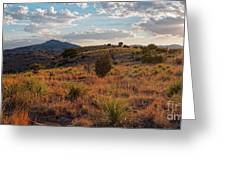 Sunset Panorama Of Blue Mountain At Davis Mountains State Park - Indian Lodge Trail Fort Davis Texas Greeting Card