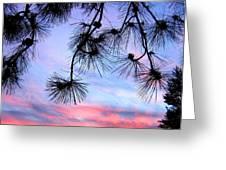 Sunset Panorama Greeting Card