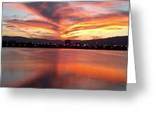 Sunset Patterns Greeting Card