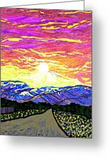 Sunset Pearblossom Highway Greeting Card