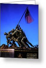 Sunset Photo At The Iwo Jima Monument Greeting Card