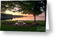 Sunset Picnic Greeting Card