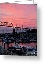 Sunset Port Greeting Card