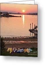Sunset, Portland, Maine  -07817 Greeting Card