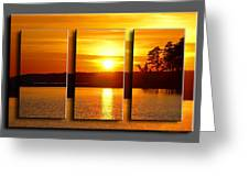 Sunset Poster Greeting Card