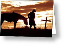 Sunset Prayer Greeting Card