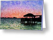 Sunset Prism Greeting Card
