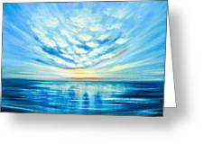 Sunset Quest Blue Greeting Card