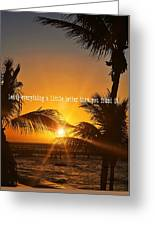 Sunset Quote Greeting Card