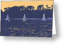 Sunset Race Greeting Card