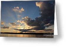 Sunset Rays On The Shore Greeting Card