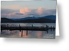 Sunset Reflecting Off Priest Lake Greeting Card