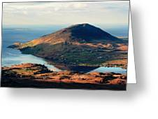Sunset Reflection In Connemara Ireland Greeting Card