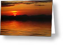 Sunset Reflection On The Lake Greeting Card