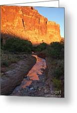 Sunset Reflection - Fremont River Greeting Card