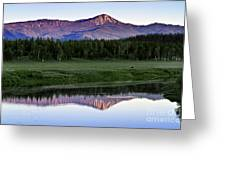 Sunset Reflections At Oxbow Bend Greeting Card