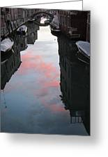 Sunset Reflections In Venice Greeting Card