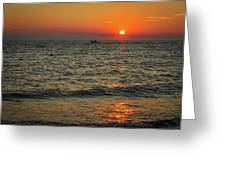 Sunset Ride Cape May Point Nj Greeting Card