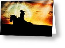 Sunset Rider Greeting Card