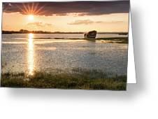 Sunset River Greeting Card