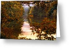 Sunset River View Greeting Card