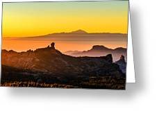 Sunset Roque Nublo Greeting Card