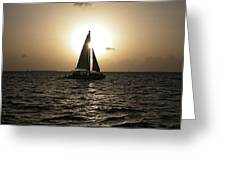 Sunset Sail - Key West Greeting Card